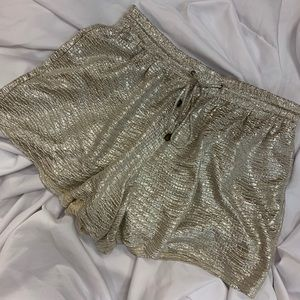 Heartloom Anthropologie Gold Shorts
